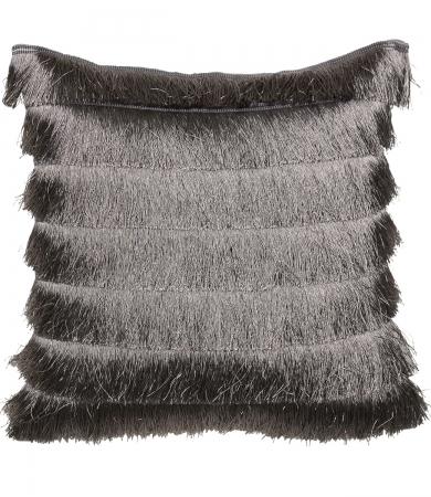 Fringed Grey Cushion