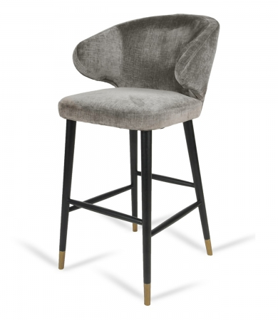 Mouse Chenille Fabric Bar Stool