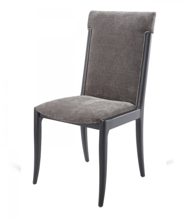 Mouse Chenille Dining Chair With Black Legs