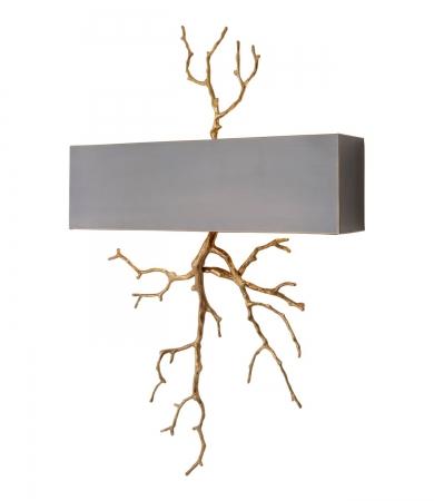 Brass Wall Lamp With Rectangular Shade