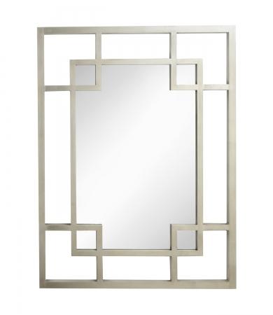 Geometric Lattice Silver Leaf Mirror