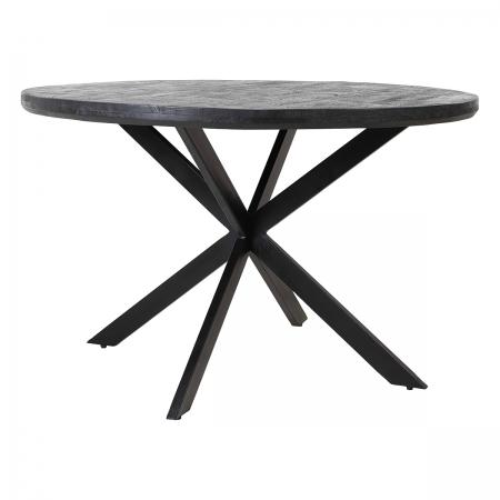 Cross-Legged Round Wood Dining Table