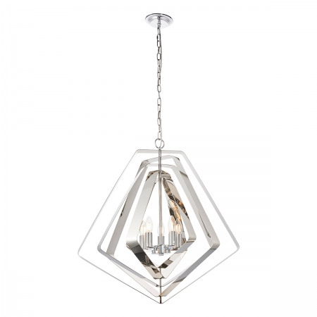 Polished Metalwork Pendant with Tapered Frames