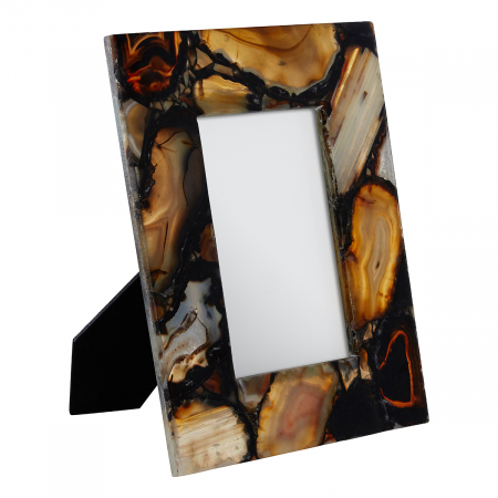 Black Agate 4×6 Photo Frame