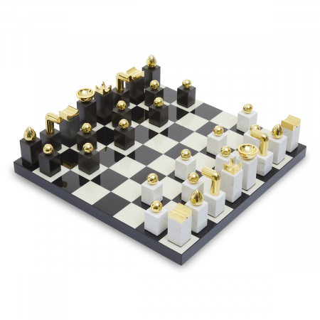 Marble and Wood Chess Set