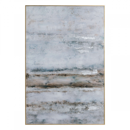Abstract Grey Glass Image in Frame